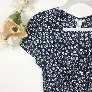Forever 21 | Navy Blue Floral Jumpsuit